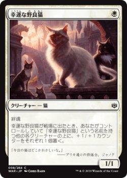 画像1: 幸運な野良猫/Charmed Stray (WAR)《Foil》